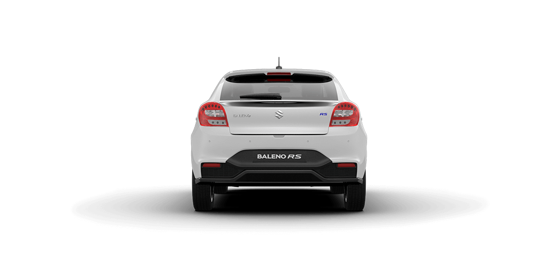 Baleno RS Arctic White Car Back View