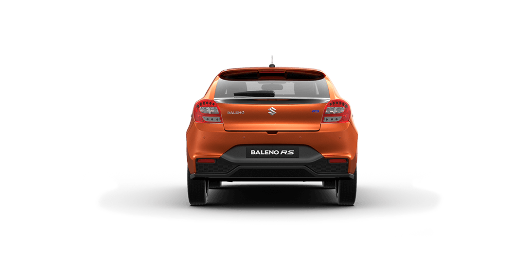 Baleno RS Orange Car Back  View