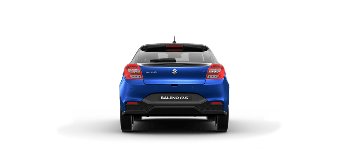 BalenoRs Urban Blue Car Back View