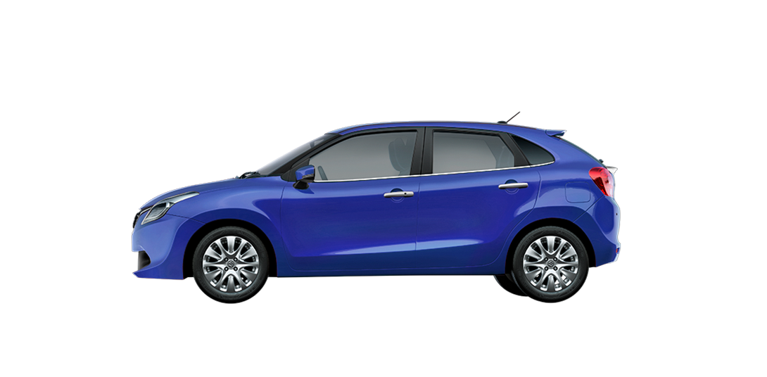 Baleno Blue cars back views